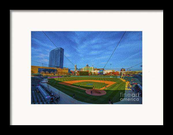 Victory Field Framed Print featuring the photograph Victory Field Home Plate by David Haskett