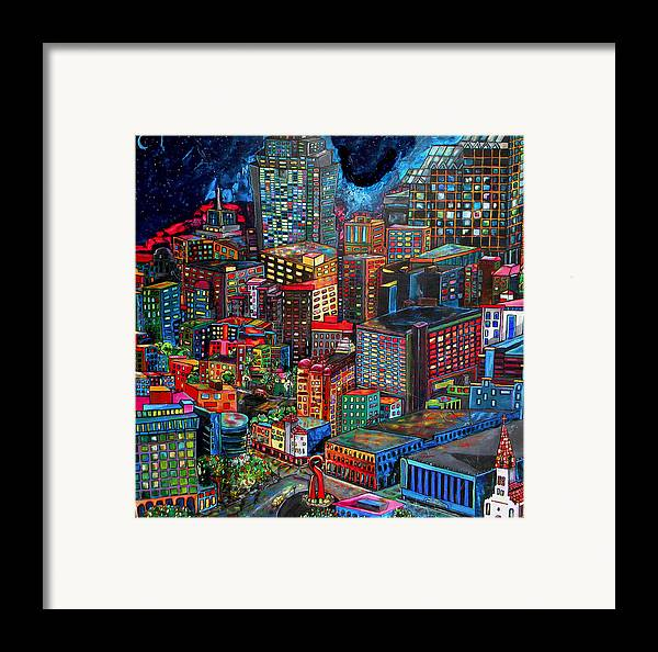 San Antonio Framed Print featuring the painting View From Hemisphere by Patti Schermerhorn