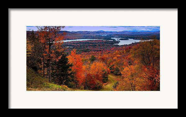 View From Mccauley Mountain Ii Framed Print featuring the photograph View From Mccauley Mountain II by David Patterson
