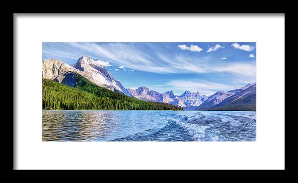 View From The Stern Framed Print featuring the photograph View From The Stern by Carolyn Derstine