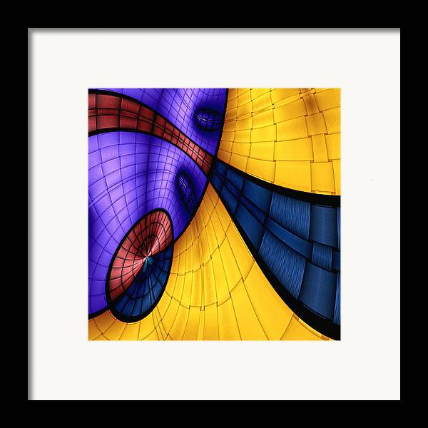 Abstract Framed Print featuring the digital art View From The Top 2 by Wendy J St Christopher
