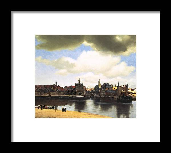 Vermeer Framed Print featuring the painting View Of Delft Vermeer by Johannes Vermeer