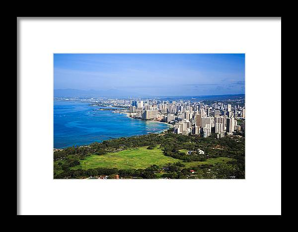 View Framed Print featuring the photograph View Of Downtown Honolulu by Ami Parikh