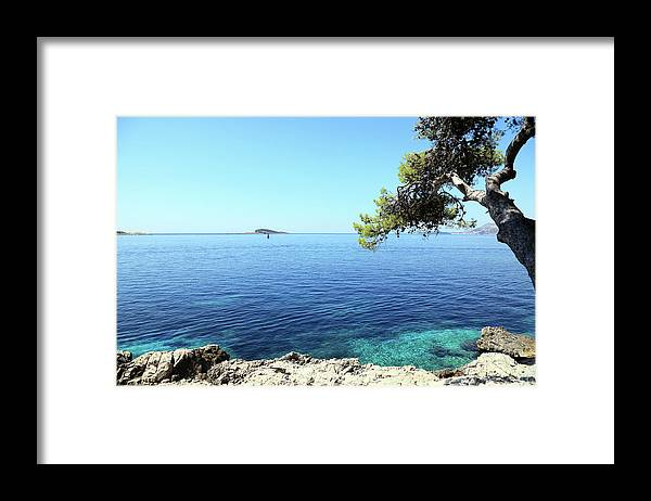 Water's Edge Framed Print featuring the photograph View Of Dubrovnik From Cavtat Peninsula by Vuk8691