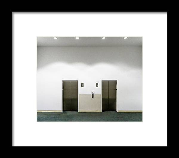 Empty Framed Print featuring the photograph View Of Elevators by Jesse Coleman / EyeEm