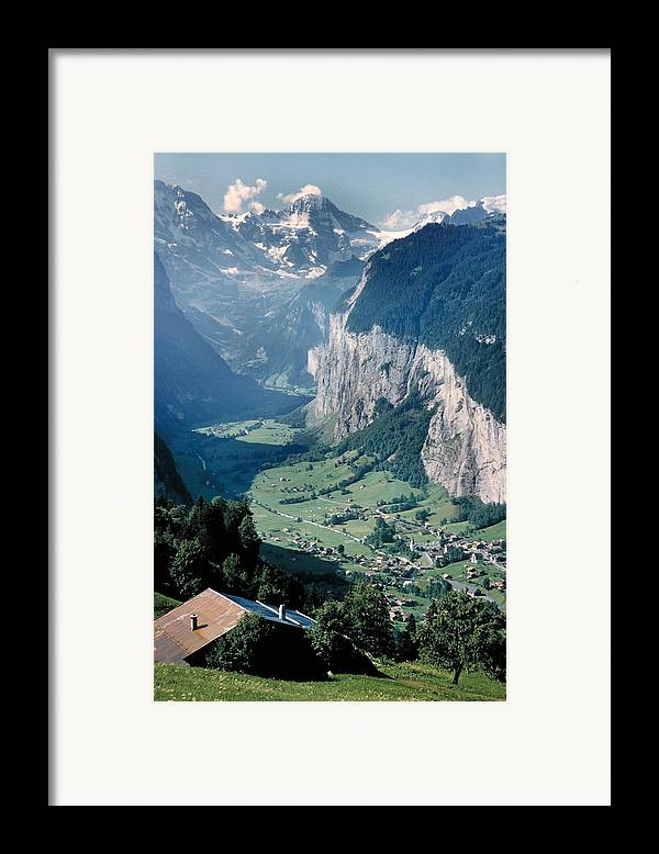 Alps Framed Print featuring the photograph Amazing View Of Swiss Valley by Carl Purcell