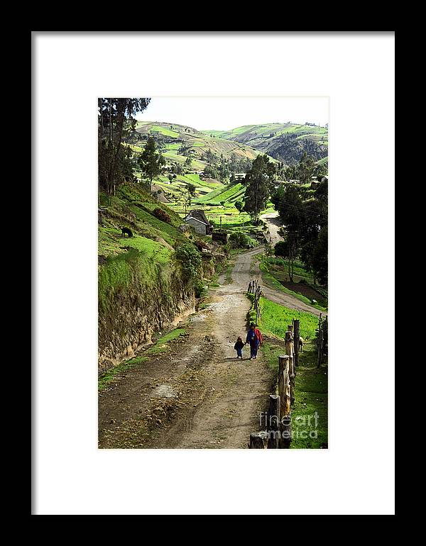 Ecuador Framed Print featuring the photograph View Of Lupaxi by Kathy McClure