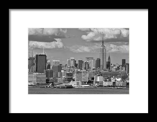 Amazing View Of Nyc Framed Print featuring the photograph View Of Nyc by D Plinth
