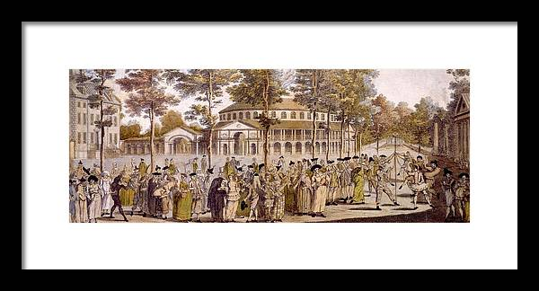Jubilee Framed Print featuring the drawing View Of The Jubilee Ball, Ranelagh by English School