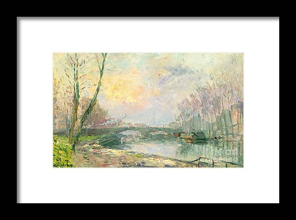 River Framed Print featuring the painting View Of The Seine Paris by Albert Charles Lebourg
