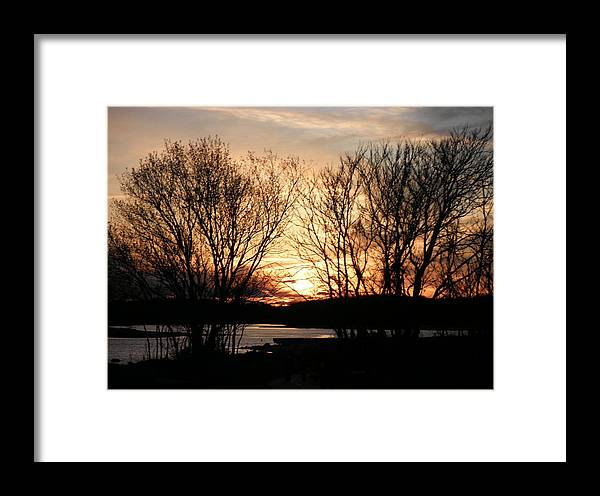 Narragansett Bay Framed Print featuring the photograph View On My Evening Walk by Kate Gallagher