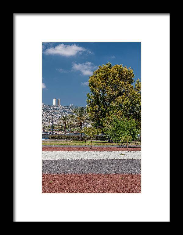 Middle East Framed Print featuring the photograph View To Haifa by Sergey Simanovsky
