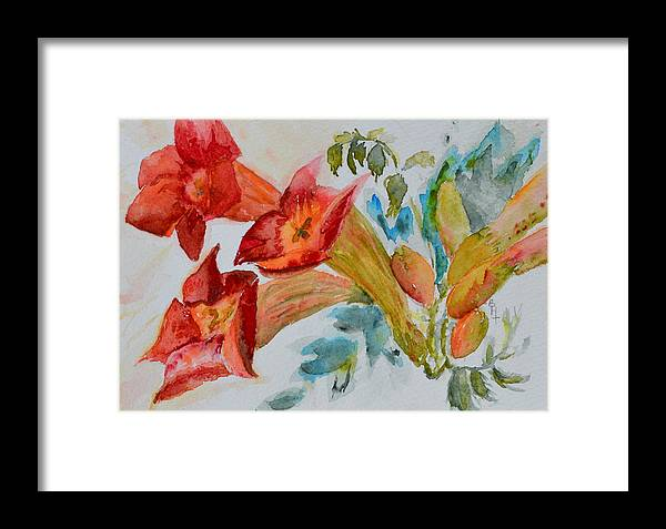 Watercolor Framed Print featuring the painting Vigne Provincial by Beverley Harper Tinsley