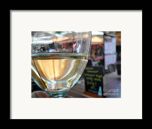 Wine Framed Print featuring the photograph Vin Blanc by France Art