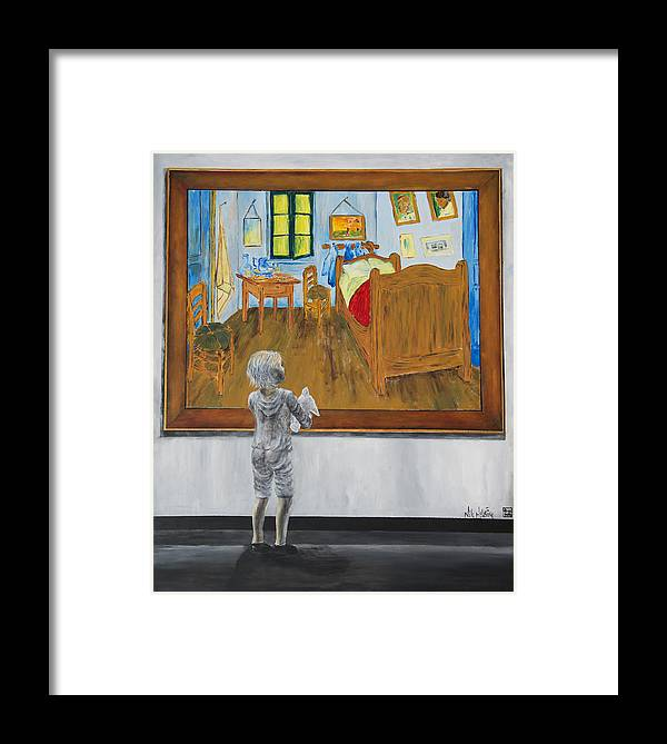 Painting Of Framed Print featuring the painting Vincent by Nik Helbig