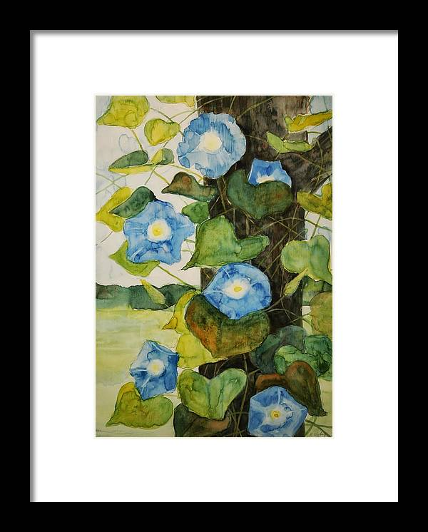 Framed Print featuring the painting Vine by Helen Hickey