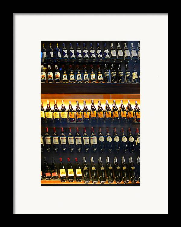 Wine Framed Print featuring the photograph Vino by Laura Fasulo