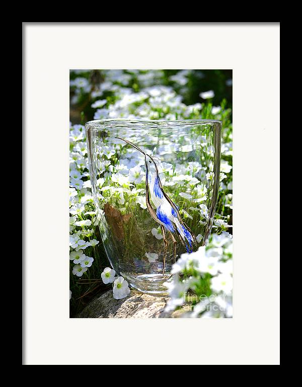 Owl Framed Print featuring the glass art Vinsanchi Glass Art-3 by Vin Kitayama