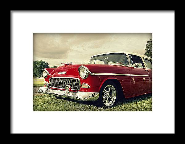 Chevy Framed Print featuring the photograph Vintage 1955 Chevy Nomad by Jen T