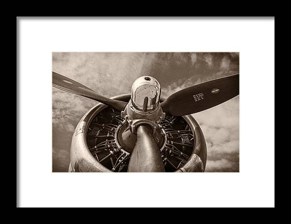 3scape Framed Print featuring the photograph Vintage B-17 by Adam Romanowicz