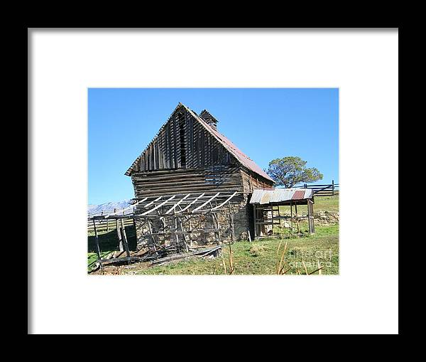 Old Framed Print featuring the photograph Vintage Barn Beauty by Dale Jackson