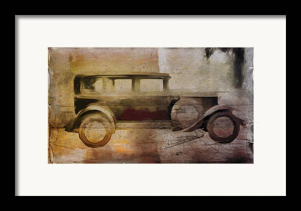 Vintage Framed Print featuring the digital art Vintage Buick by David Ridley