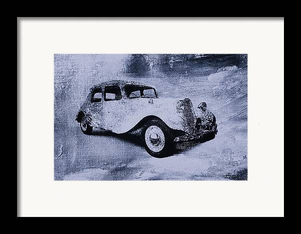 Vintage Framed Print featuring the digital art Vintage Car by David Ridley