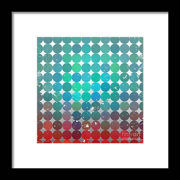 Bright Framed Print featuring the digital art Vintage Circles Pattern.geometric by Veronika M