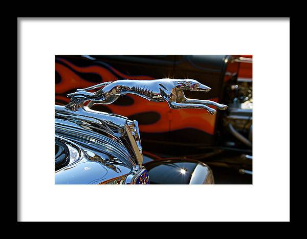 Hood Framed Print featuring the photograph Vintage Ford Lincoln Hood Ornament by John Babis