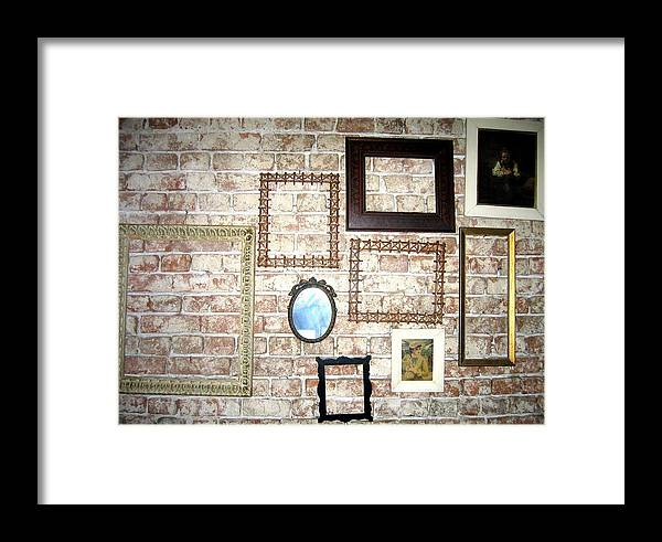 #vintage #wooden #frames #photography #floart Framed Print featuring the photograph Vintage Frames by Florinel Nicolai Deciu