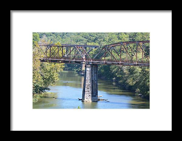 Bridges Photographs Framed Print featuring the photograph Vintage Garden City Bridge by Barb Dalton