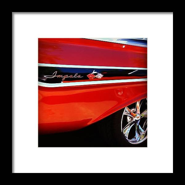 Classic Car Framed Print featuring the photograph Vintage Impala by Heidi Hermes