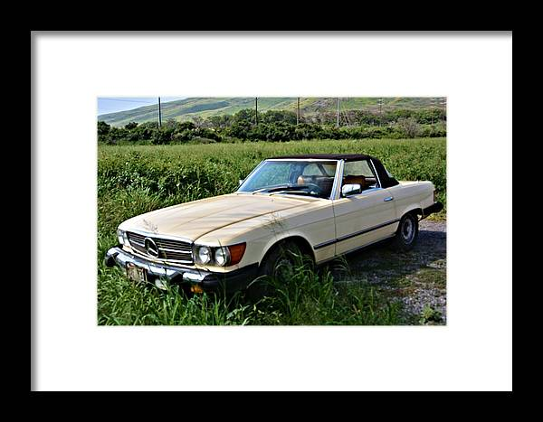 Auto Framed Print featuring the photograph Vintage Mercedes by Richard Jenkins