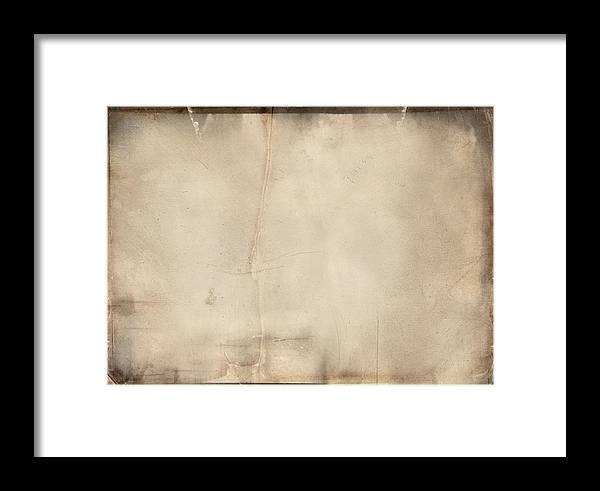 Vintage Paper Texture Overlay Framed Print