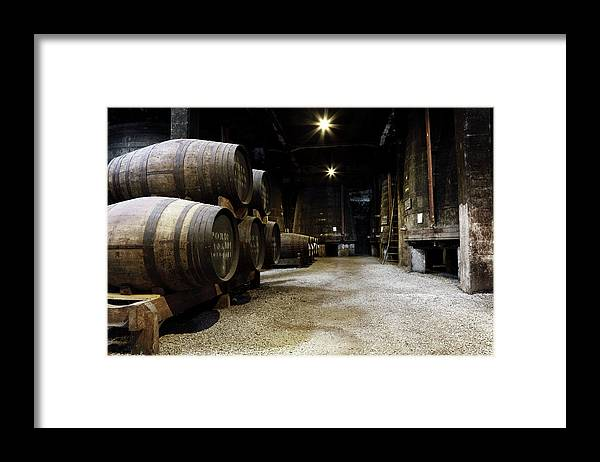 Desaturated Framed Print featuring the photograph Vintage Porto Wine Cellar by Vuk8691