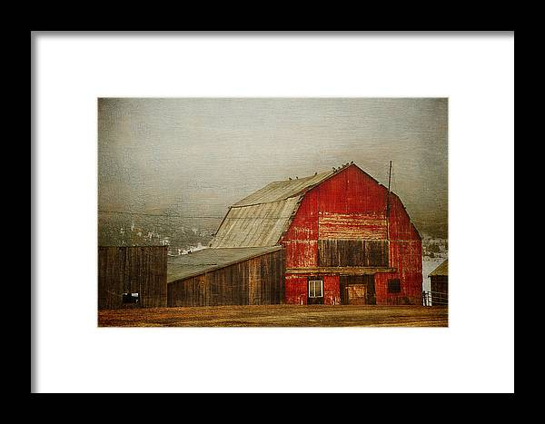 Barn Framed Print featuring the photograph Vintage Red Barn by Theresa Tahara