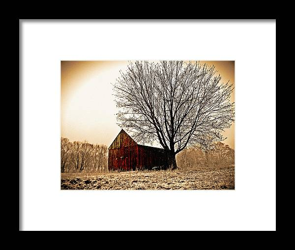 Barn Framed Print featuring the photograph Vintage Red by Kevin D Davis