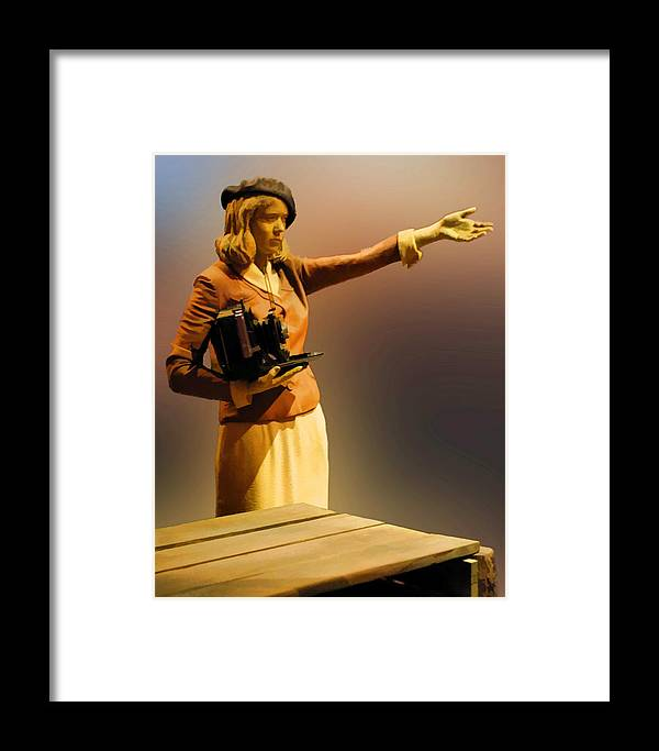 Fine Art Framed Print featuring the photograph Vintage Style Newspaper Photographer by Linda Phelps