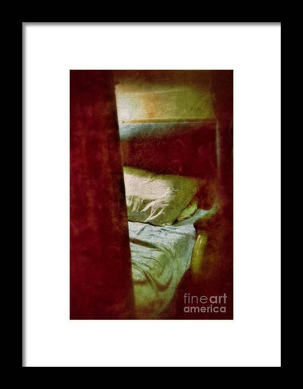 Train Framed Print featuring the photograph Vintage Train Bed by Jill Battaglia
