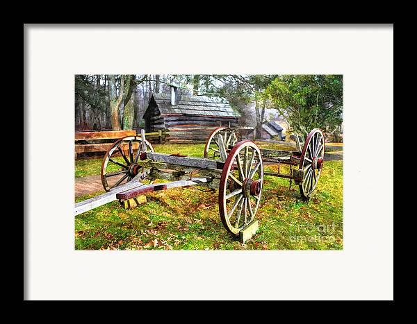 North Carolina Framed Print featuring the photograph Vintage Wagon On Blue Ridge Parkway I by Dan Carmichael