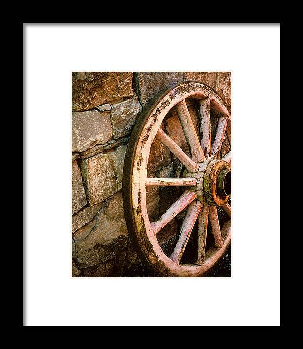 Vintage Framed Print featuring the photograph Vintage Wheel by Willis Whyte
