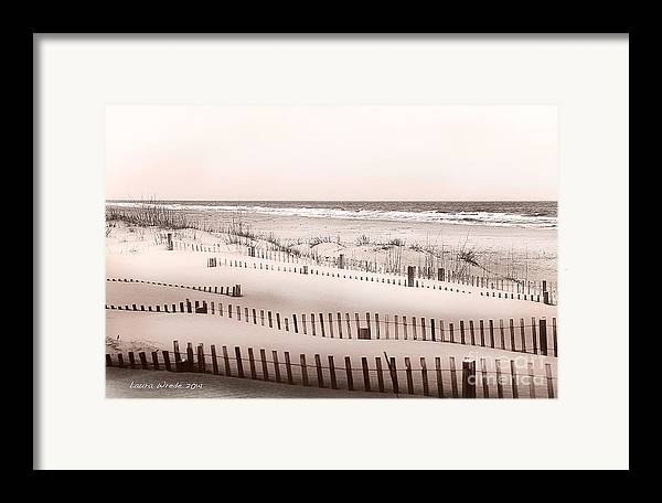 Virgina Beach Vacation Memories Framed Print featuring the photograph Virgina Beach Vacation Memories by Artist and Photographer Laura Wrede