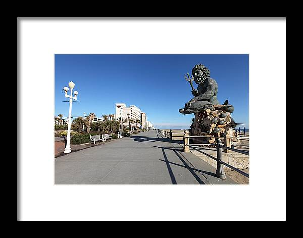 Virginia Beach Boardwalk Framed Print