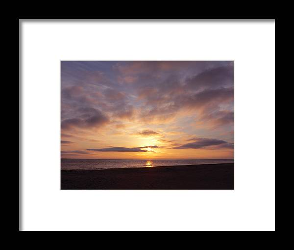 Sunrise Framed Print featuring the photograph Virginia Beach Sunrise by Jean Wright