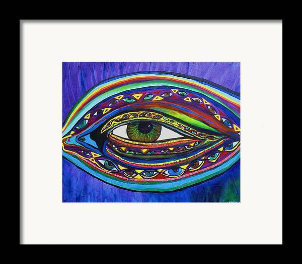Vision Framed Print featuring the painting Vision by J Andrel