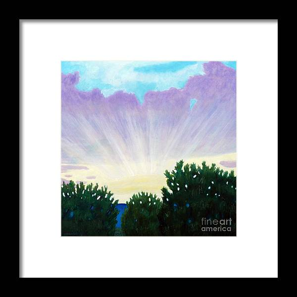 Skyscape Framed Print featuring the painting Visionary Sky by Brian Commerford