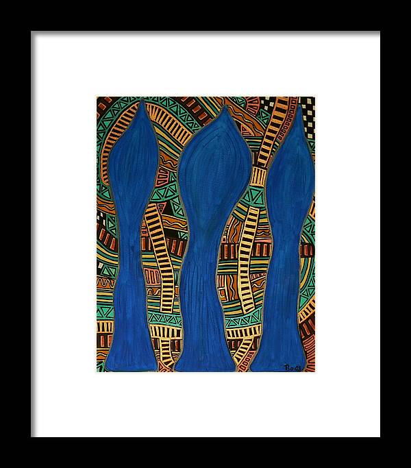 Metallic Framed Print featuring the painting Visionary Track by Barbara St Jean