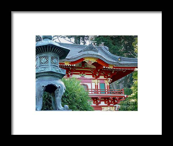 Japanese Tea Garden Framed Print featuring the photograph Visions Of Japan by Nancy Bradley