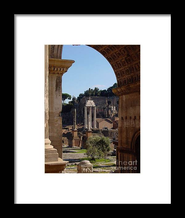 Italy Framed Print featuring the photograph Visions Of Rome by Nancy Bradley