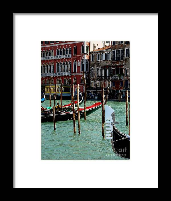 Gondolas Framed Print featuring the photograph Visions Of Venice 4. by Nancy Bradley